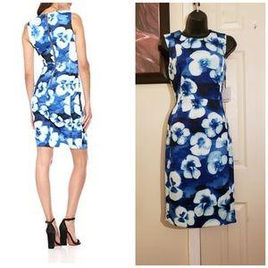 Calvin Klein Sleeveless Floral Sheath Dress